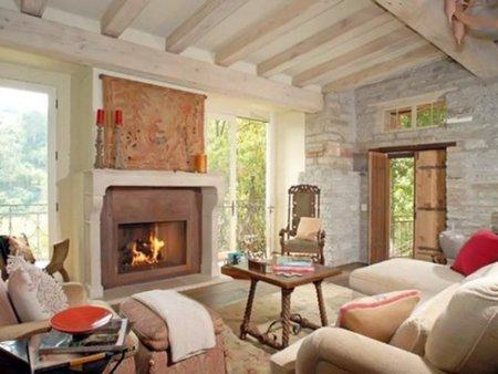 Sala de estar de Halle Berry.
