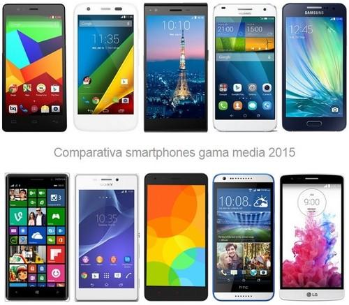 Me quiero comprar un smartphone de gama media, ¿qué opciones tengo y cuánto tendré que pagar?