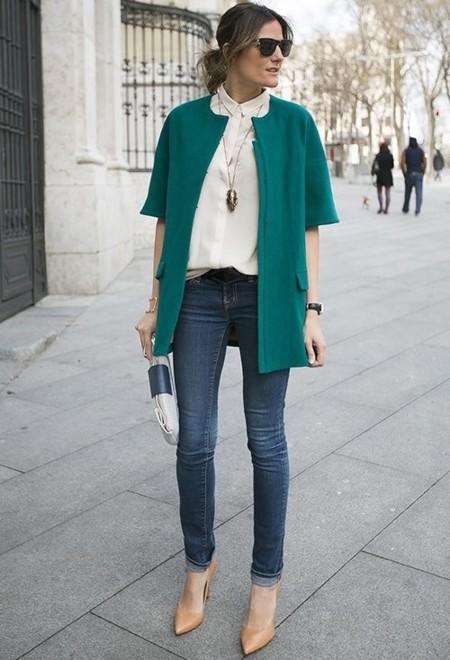 El efecto estilizador de los zapatos nude, el truco favorito de las bloggers