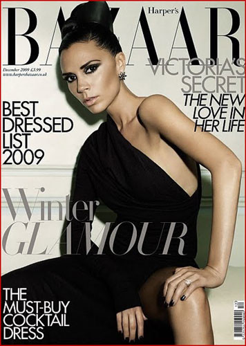 Victoria Beckham portada UK Harper's Bazaar Diciembre 09
