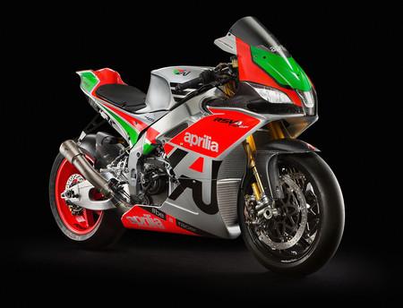 El híbrido entre MotoGP y Sbk de 250 CV se llama Aprilia RSV4 RR FW-Gp, y cuesta 160.000 euros