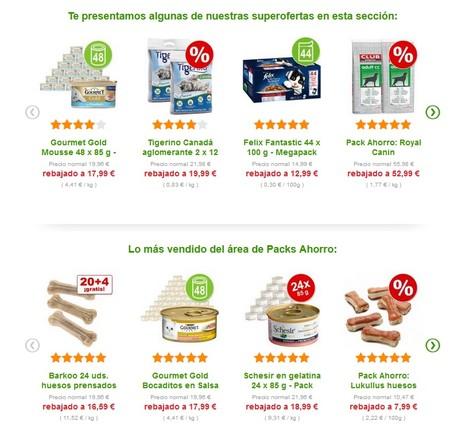 Packs de ahorro para perros y gatos en Zooplus. Envío gratis a partir de 39 euros de gasto