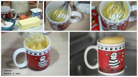 Mug Cake Yogur Bebes Pasos