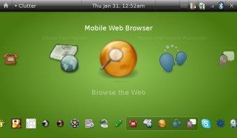 Ubuntu Mobile presenta una interfaz similar a la del iPhone