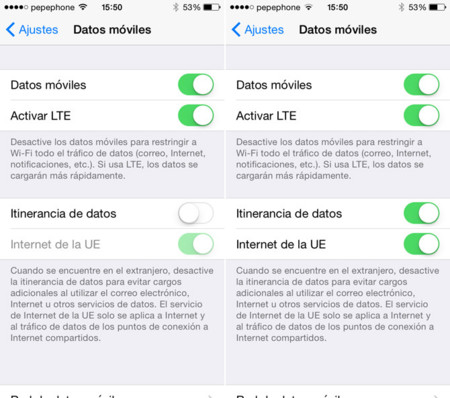 Internet UE iOS 8 beta 4