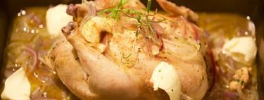 Pollo horneado a la naranja con hoja santa. Receta sencilla para cualquier ocasión