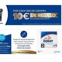 Cupón de 10 euros de descuento por cada 30 euros de compra en una selección de productos de primeras marcas en Amazon