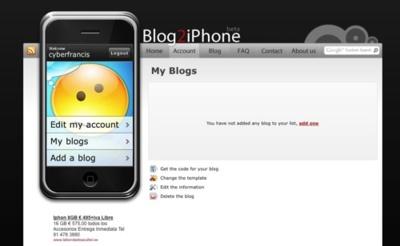 Blog2iPhone, crea la versión iPhone de tu blog