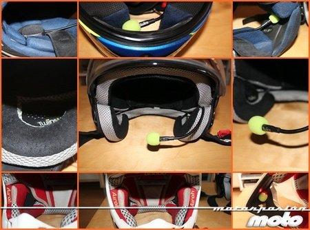 Montaje del manos libres Fanoutics en diferentes cascos