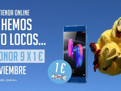 Honor Crazy Day: Huawei Honor 9 por sólo 1 euro en la web oficial. Envío Gratis