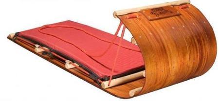 Un trineo de madera personalizado para tus niños