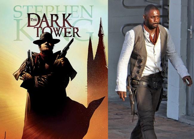 Idris Elba en el rodaje de La Torre Oscura