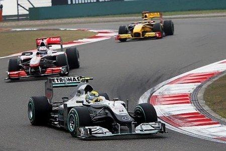 Nico Rosberg brilló con fuerza en el GP de China 2010