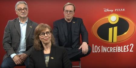 """""""Lo importante en 'Los Increíbles 2' es la familia, no los superhéroes"""". Brad Bird (director), John Walker y Nicole Grindle (productores)"""