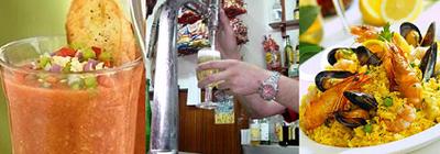 Productos más valorados del verano, gazpacho, paella y cerveza