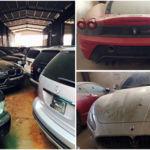 144 coches de lujo acumulan polvo en Vietnam, tras ser requisados por la policía en 2013