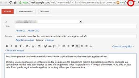 Envía rápidamente una URL por correo desde Chrome