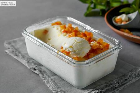 Helado De Yogur Con Naranja Confitada