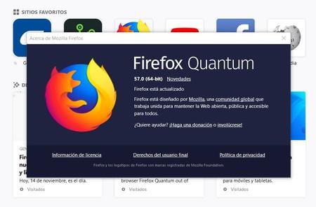 Firefox Quantum Analisis Versiones