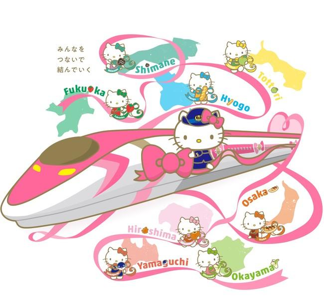 Desde Japón llega el tren más 'cuqui' del mundo: el tren bala de Hello Kitty