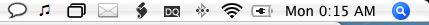 Lista de programas para la barra de menús de Mac OS X