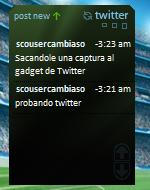 Twitter Gadget, twitea desde la Sidebar de Vista