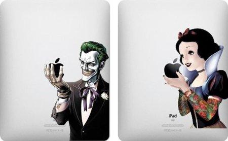 Vinilos de Joker y Blancanieves para tu iPad