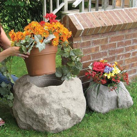 Macetas de piedra para el jard n - Jardin con macetas ...