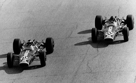 Jim Clark Graham Hill Monza 1967