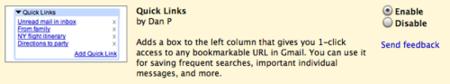 Quicklinks, bastante utiles