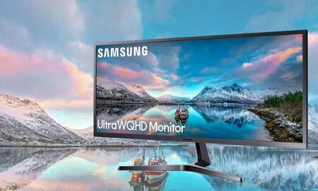 Ideal para teletrabajar: Amazon tiene superrebajado un monitor ultrawide como el Samsung S34J552 en 129 euros