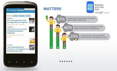 GoMo, el proyecto de Google para saber si  tu página se adapta a la navegación móvil