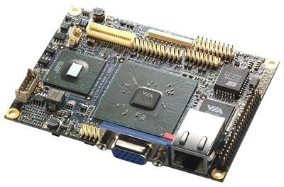VIA VT6047, la placa base más pequeña