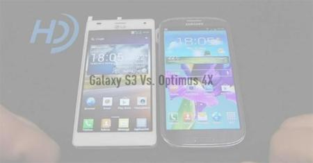Samsung Galaxy SIII vs LG Optimus 4X HD, en vídeo