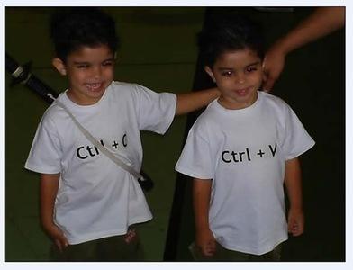 "Camisetas para gemelos ""geeks"""