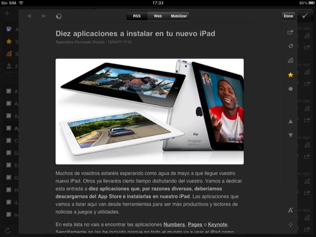 Foto de Lectores RSS para el iPad (12/20)