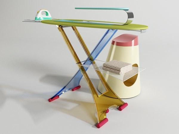 tabla de planchar multicolor