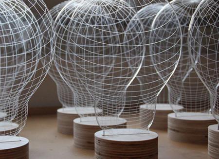 Bulbing es un proyecto para crear lámparas tridimensionales sin que lo parezcan