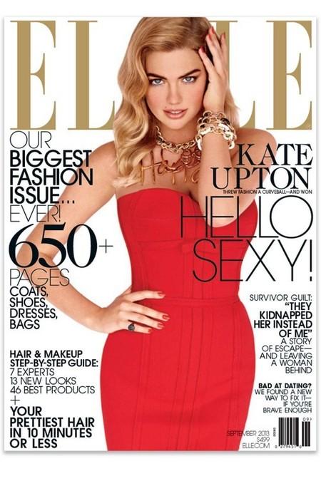 US Elle September 2013 : Kate Upton by Carter Smith