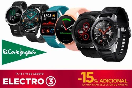 17 smartwatches y pulseras deportivas rebajados hasta en un 35% de descuento en el Electro 3 de El Corte Inglés