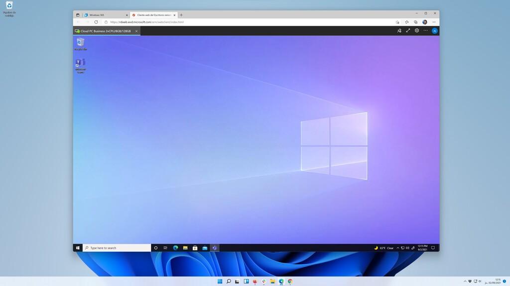 Así es trabajar con Windows 365, el