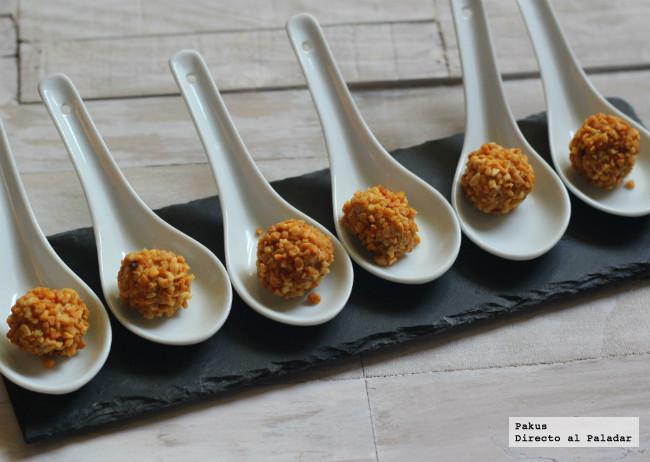 bombones crocantes de foie y almendras