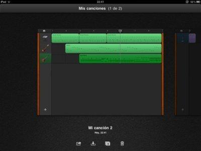 Análisis Garageband para el iPad