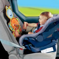 Rana para divertir y vigilar al bebé en el asiento del coche