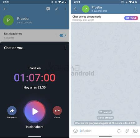 Telegram Chat Voice Schedule