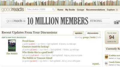 GoodReads dobla el número de usuarios registrados en 15 meses, superando los 10 millones
