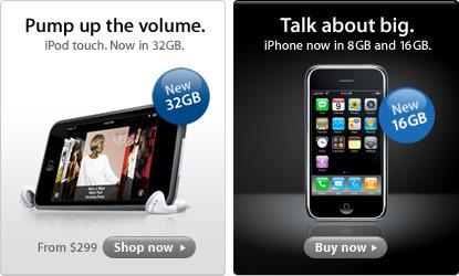 Apple lanza el iPhone de 16 GB y el iPod touch de 32 GB