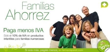 Familias ahorrez es una campaña para facilitar las comprar de productos infantiles de las familias numerosas