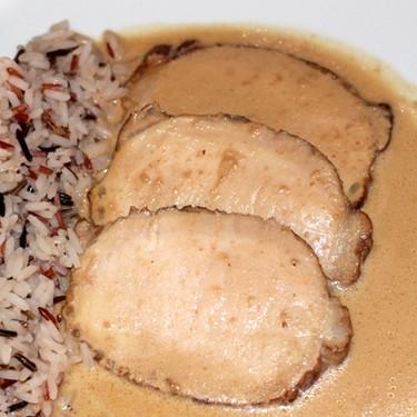 Receta de lomo de cerdo cocinado en nata y soja