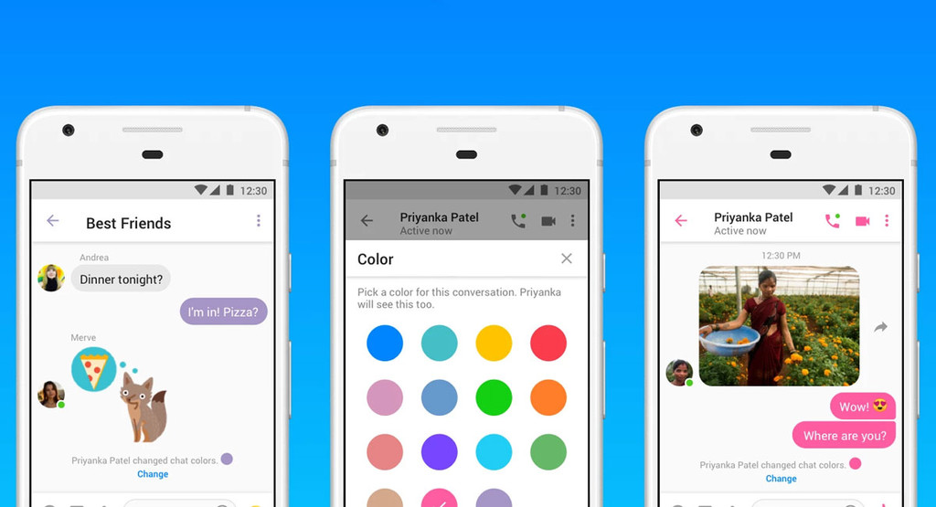 Messenger Lite añade GIF animados, envío de archivos y personalización de los chats con colores y emojis